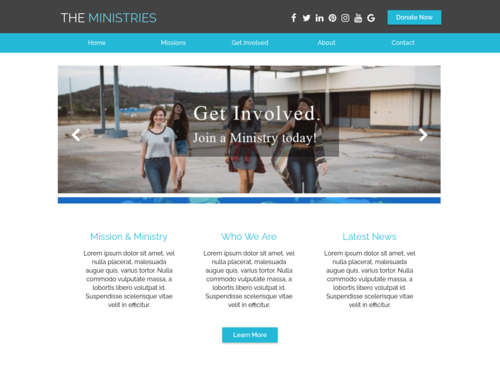Ministry website template