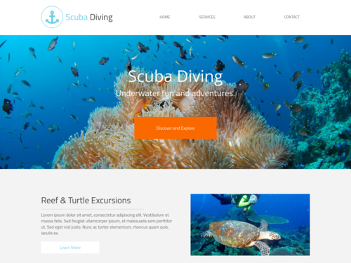 Scuba website template