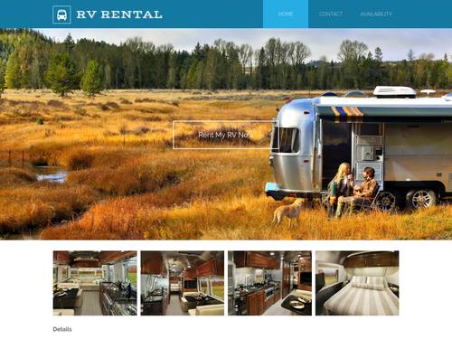 RV Rental website template