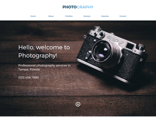 Photography 1 website template