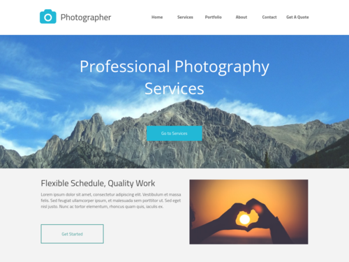 Photography Website website template