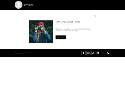 Blog Home Page website template