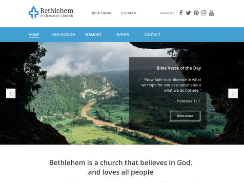 Christian Church website template