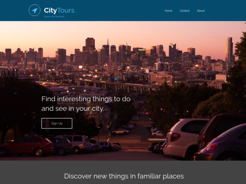 City Tours Learn and Discover website template