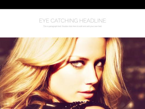 Eye Catching Headline website template