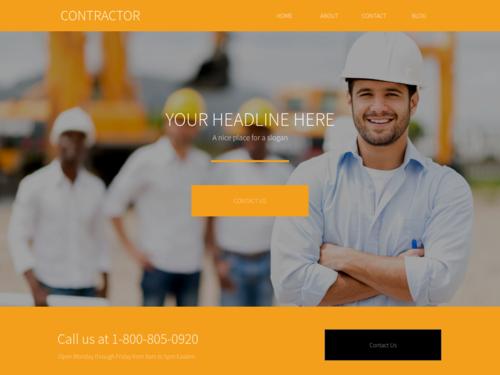 Construction website template