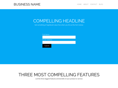 Business Conversions website template