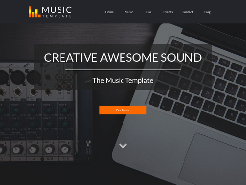 Music Template website template