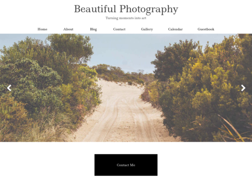 Beautiful Photography website template