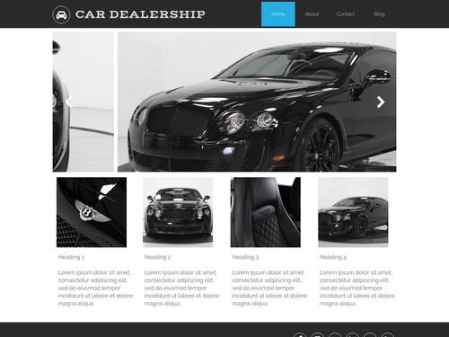 Car Dealership website template