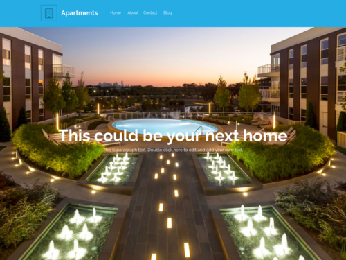 Apartment Complex website template