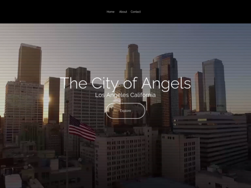 Los Angeles website template