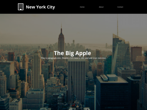 Big Apple website template