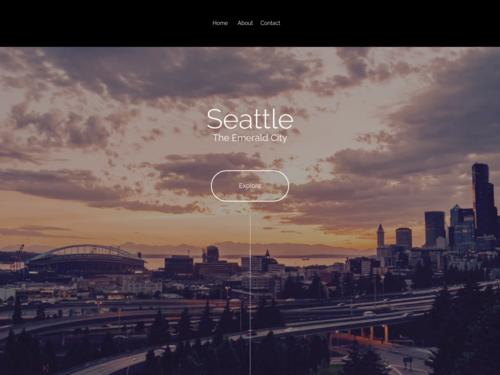 Seattle website template