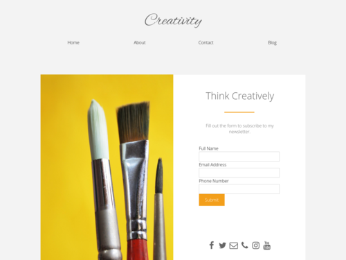 Creativity website template