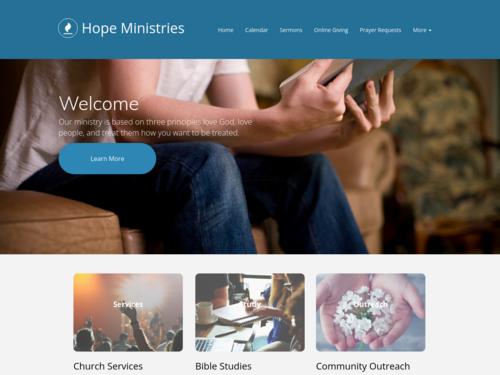 Bible Study website template