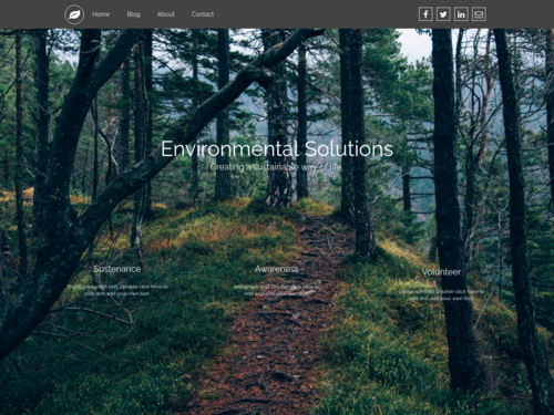 Environmental website template