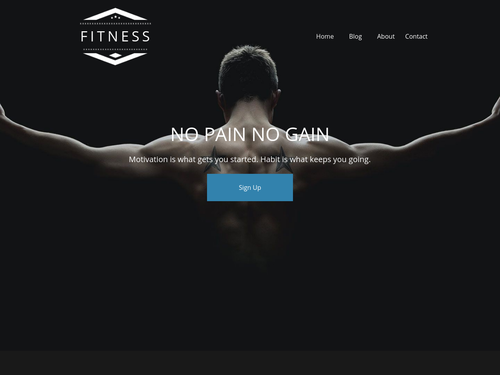 Fitness Instructor website template