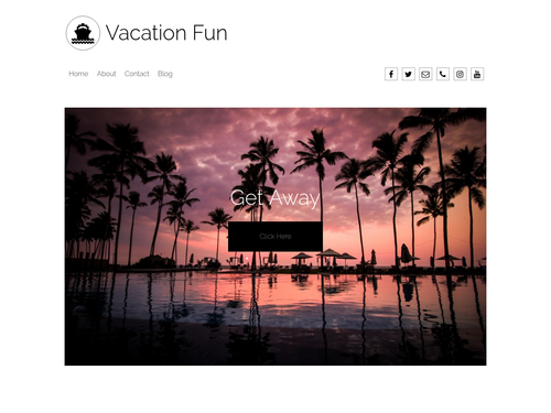 Vacations website template