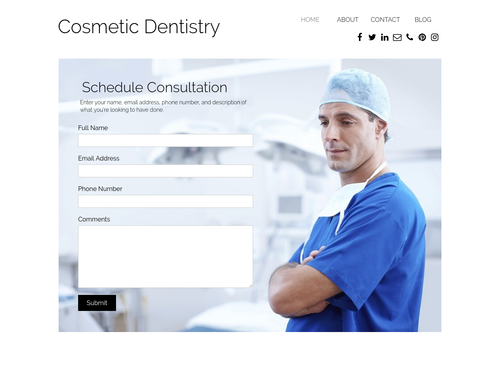 Doctor website template
