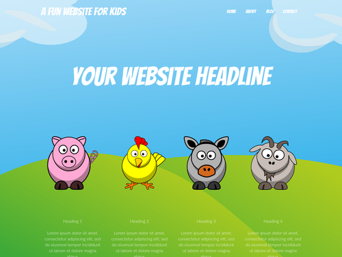 Kids website template