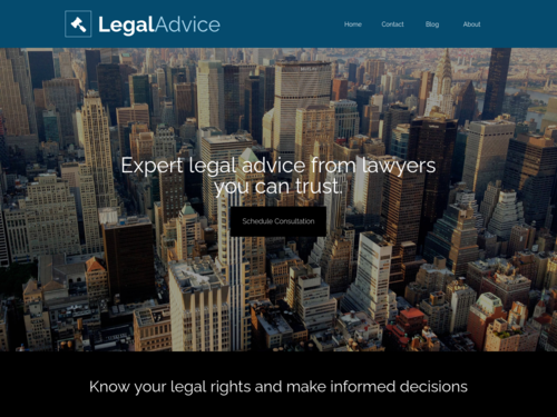 Legal website template