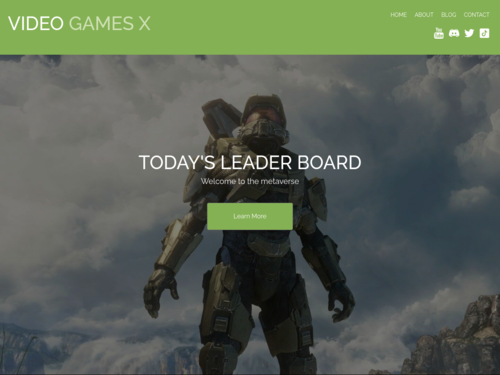 Gamer website template