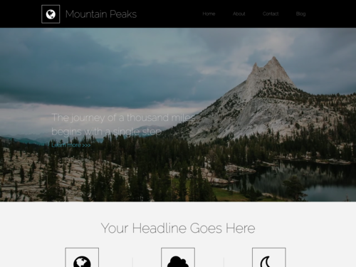 Mountain Peaks website template