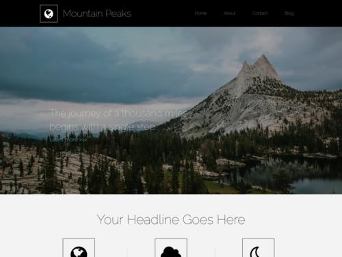 Hiking website template