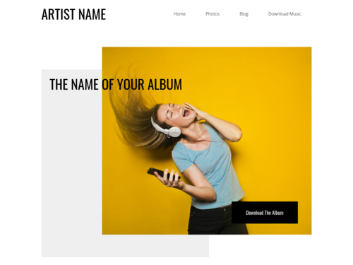 Musical Artist website template