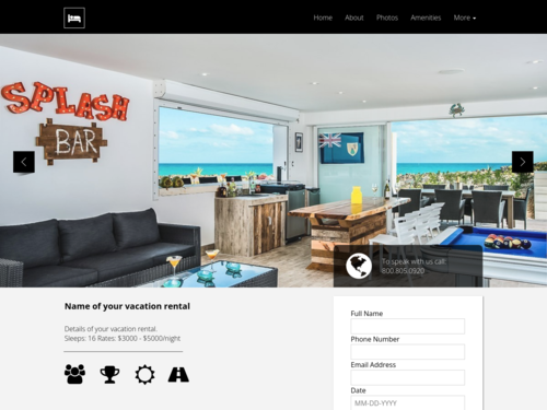 Vacation Rentals website template