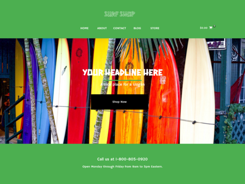 Surf Store website template