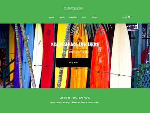 Surf Store website template
