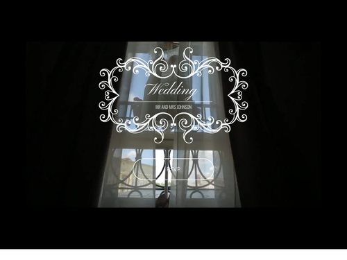 Wedding Video website template