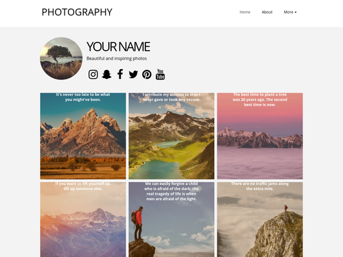 New Instagram website template