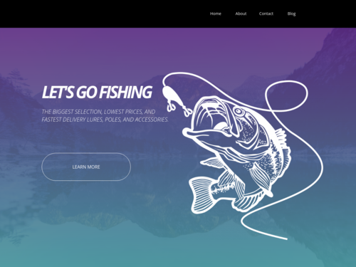 Lets Go Fishing website template