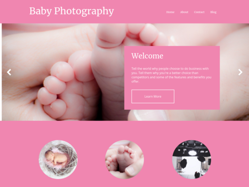 Baby Photography website template