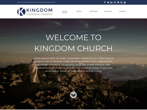 Church website template