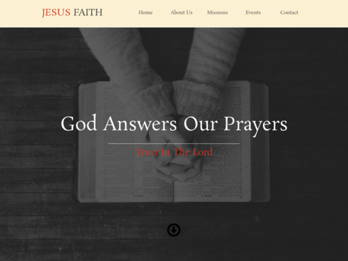 Jesus website template
