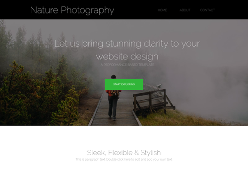 Nature Photography website template
