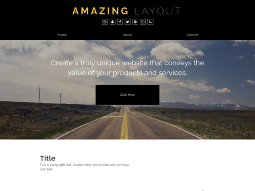 Amazing Layout website template
