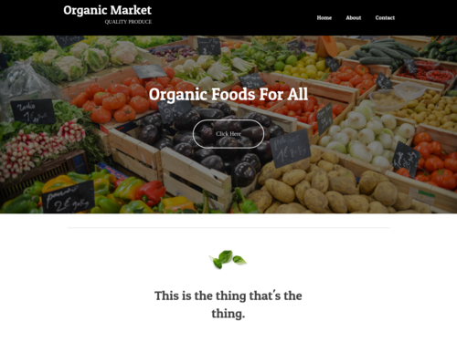 Farmers Market website template