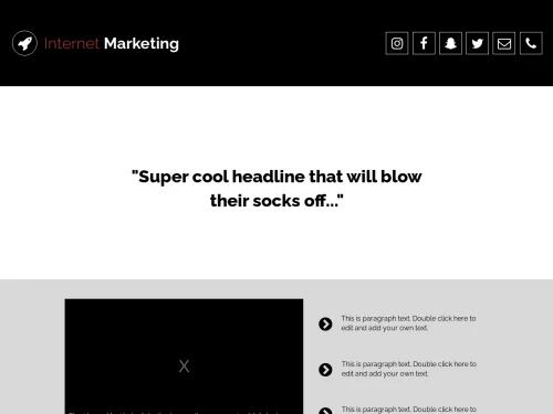 Marketing website template