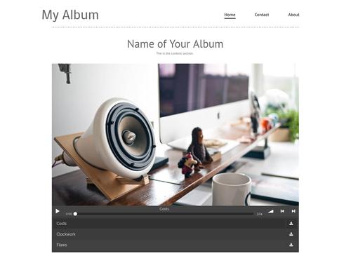 My Album website template