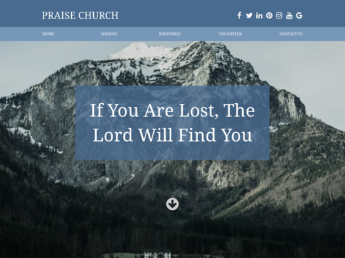 Traditional Church website template