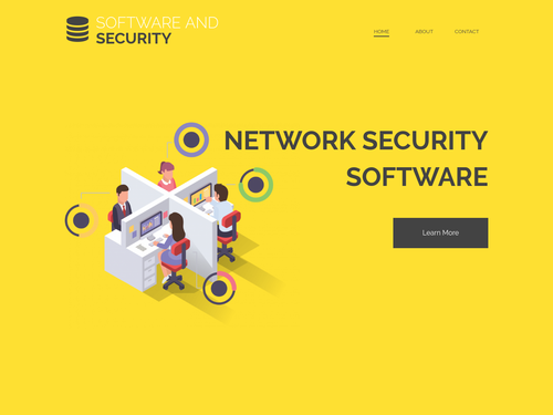Software and Security website template