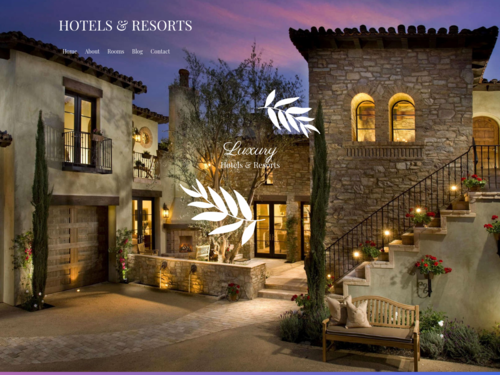 Hotels and Resorts website template
