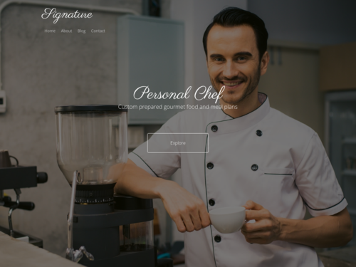 Personal Chef website template