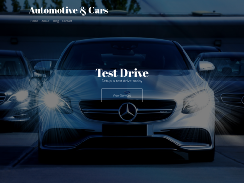 Automotive and Cars website template