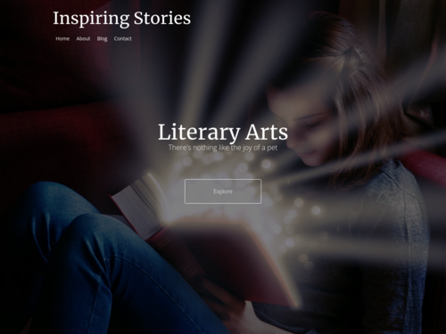 Literary Arts website template